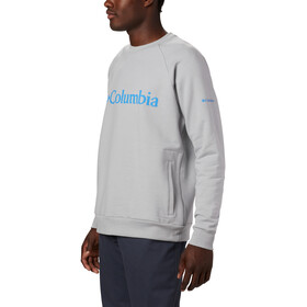 Columbia Lodge Crew Sweater Men columbia grey heather/azure blue